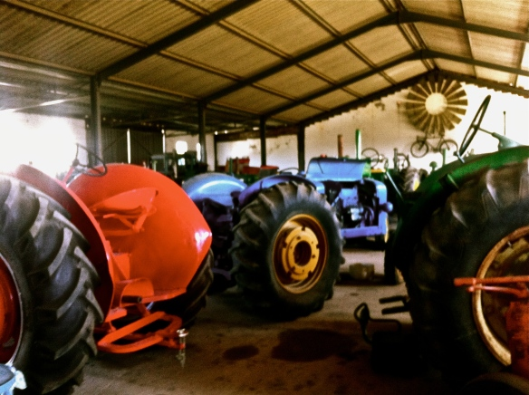 21 Vintage tractors at the Agricultural Museum which I browsed with a draft of beer in my hand